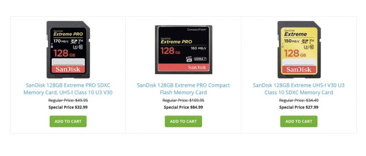 Save On SanDisk 128GB Memory Cards (today Only)