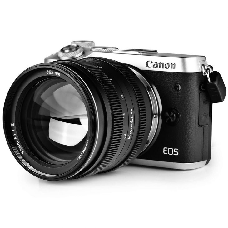 KamLan 50mm F/1.1 II Lens For Canon EOS M Released