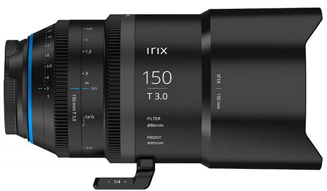 Irix Announces First Cinema Lens, The Cine 150mm T3.0 Macro 1:1