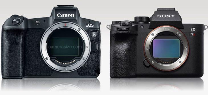 Sony A7R IV Vs Sigma Fp Vs Canon EOS R Vs Canon EOS RP Size Comparison