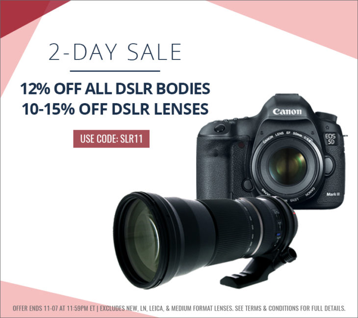 Save Up To 12% On DSLRs, 15% On Lenses (used Gear, KEH)