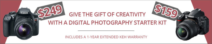 Deal: Photography Beginner Kits Starting $159 At KEH (Canon Rebel T6 Included)