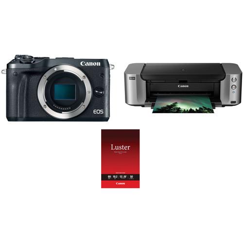 Canon EOS M6 Deal, Bundle With PIXMA Pro-100 Photo Printer – $290 (after MIR)