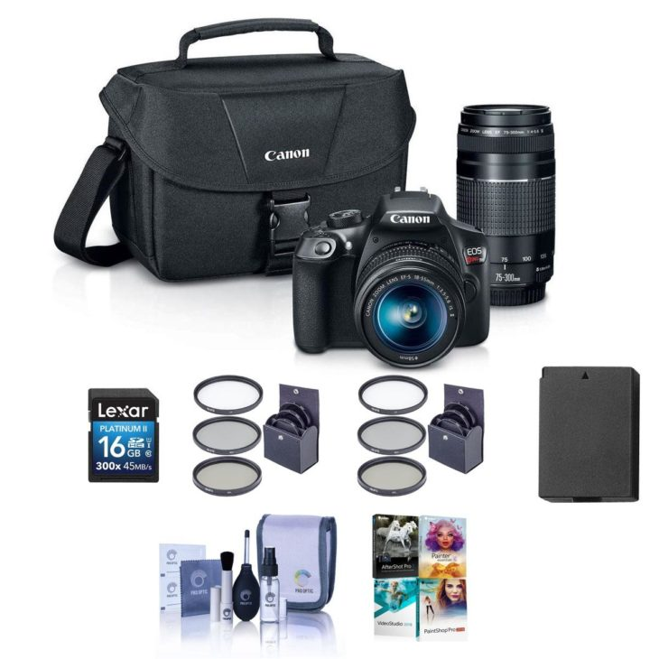 Canon Rebel T6 Deal, Bundle With 18-55mm IS & 75-300mm III Lenses, Accessories – $399 (reg. $749)