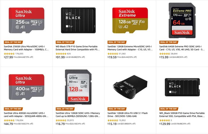 Memory Card Deals: Save Big On SanDisk And WD Storage (today Only)