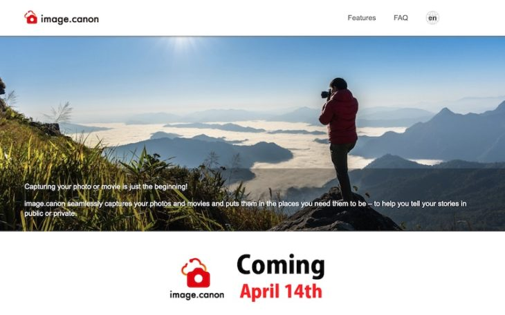 Image.Canon Cloud Platform To Start April 14, 2020