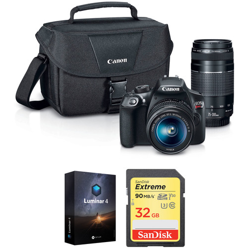 Canon Rebel T6 Deal: With 18-55mm & 75-300mm Lenses, Bag, 32GB Memory, Luminar 4 – $399