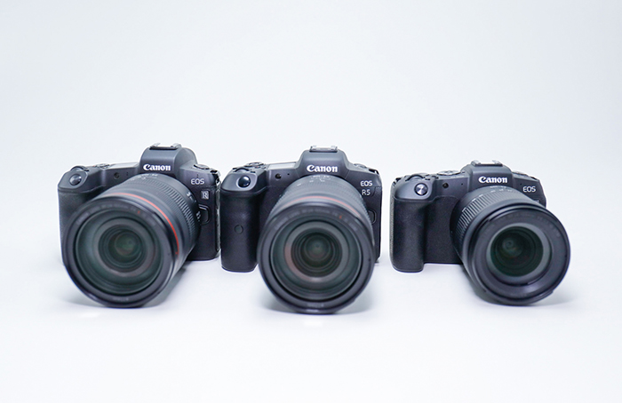Here Is How The Canon EOS R5 Looks Side By Side With The EOS R And EOS RP