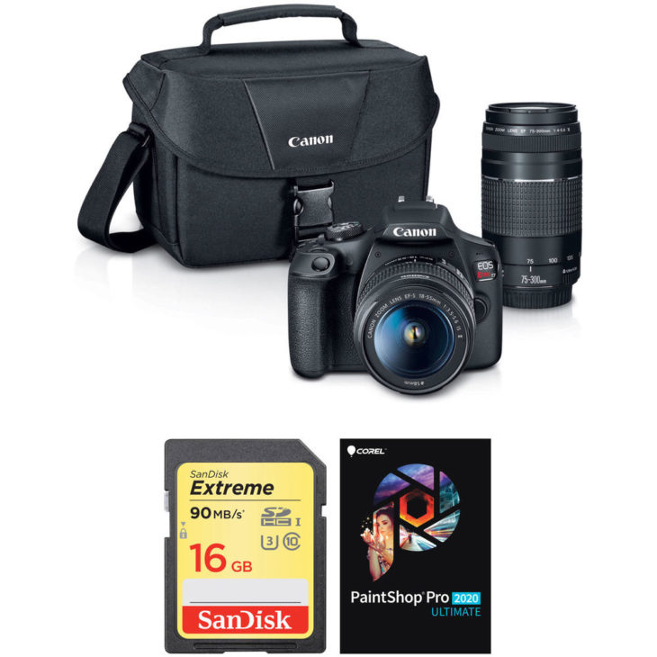 Canon Rebel T7 Deal, Kit With 2 Lenses, Memory Card, Bag, More – $449