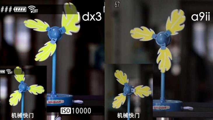 Test Shows Strong Rolling Shutter Artifacts On Canon EOS-1D X Mark III Compared To Sony A9 II