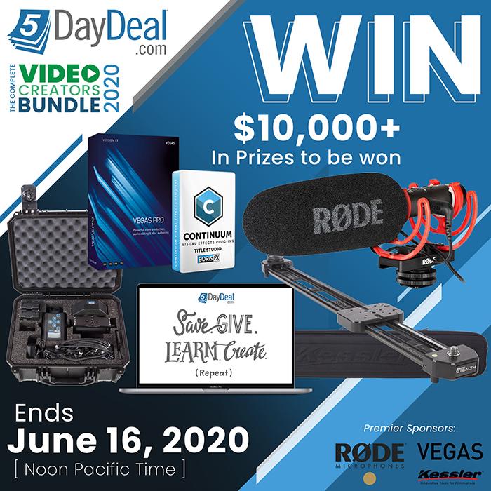 Giveaway: 5DayDeal Complete Video Creators Bundle 2020 ($10k In Prizes)